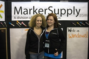 MarkerSupply employees Molly and Danielle are enjoying running the booth at this year's convention.